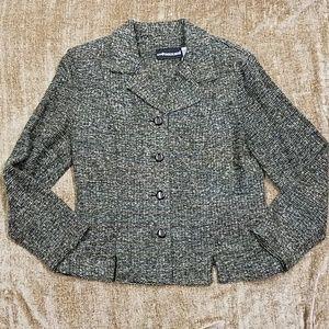 Green and Gray Rainbow Knit Jacket